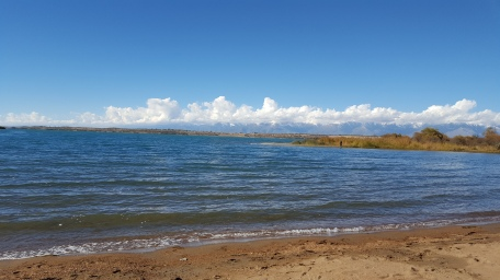 The beach at Issyk-Kul Lake